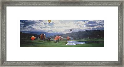 Hot Air Balloons, Snowmass, Colorado Framed Print by Panoramic Images