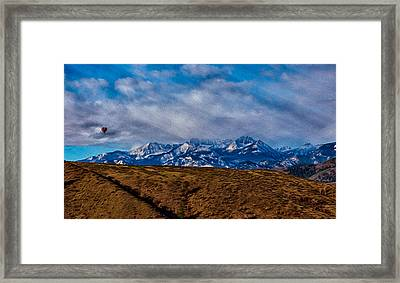 Hot Air Baloon Ride In The Methow Framed Print by Omaste Witkowski