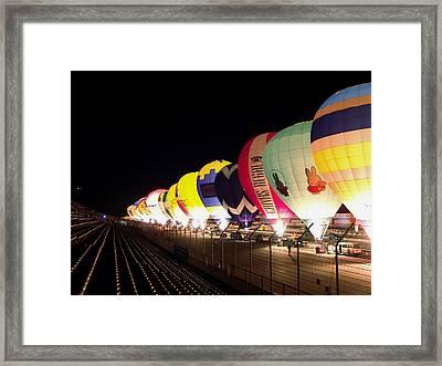 Balloon Glow Framed Print by John Swartz
