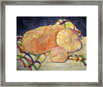 Hot And Crusty Breads Framed Print