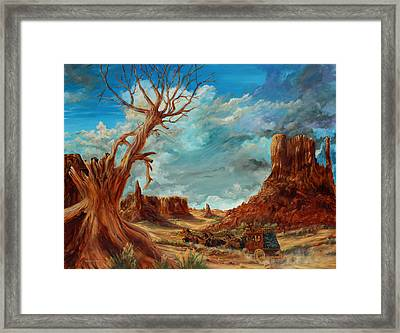 Hot And Dusty Framed Print