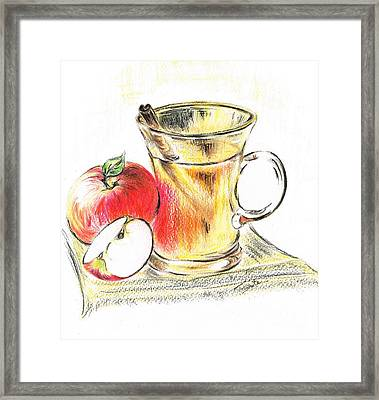 Hot Apple Cider Framed Print