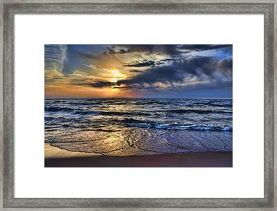 Hot April Sunset Saugatuck Michigan Framed Print