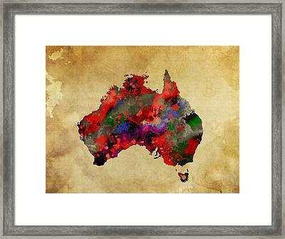 Hot Australia Map Framed Print