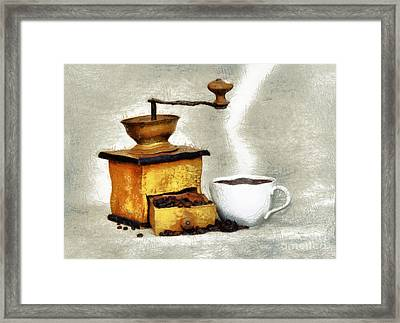 Hot Black Coffee Framed Print by Michal Boubin
