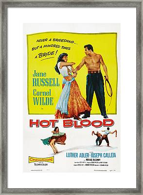 Hot Blood, Top L-r Jane Russell, Cornel Framed Print by Everett