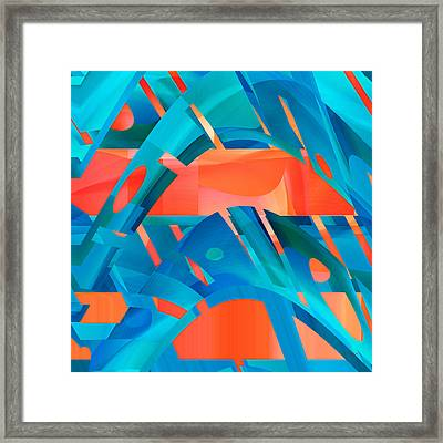 Hot Blue Framed Print