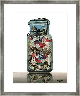 Framed Print featuring the painting Hot Buttons by Ferrel Cordle
