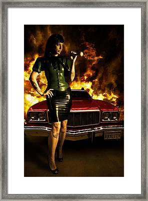 Hot Chick Framed Print by Nathan Wright
