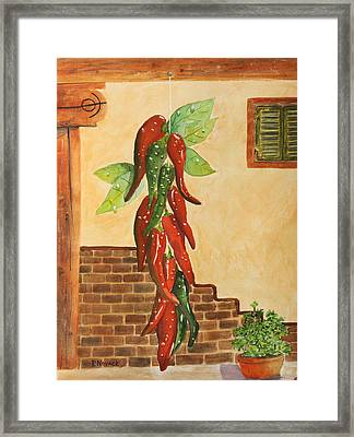 Hot Chili Peppers Framed Print by Patricia Novack