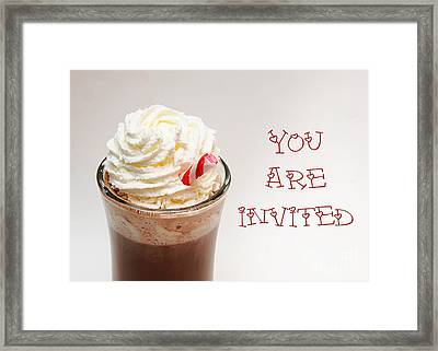 Hot Chocolate And Whipped Cream Invitation Framed Print
