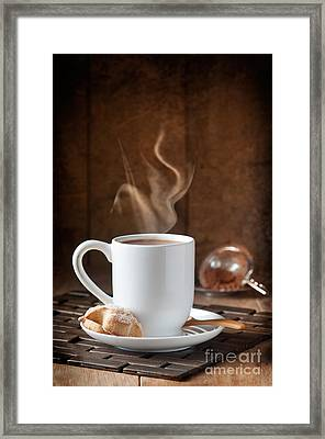 Hot Chocolate Drink Framed Print by Amanda Elwell