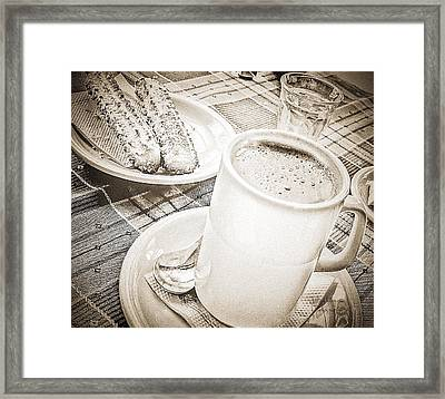 Hot Chocolate In Cold Ushuaia Framed Print by Julie Palencia