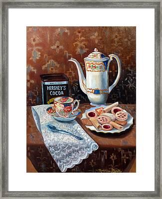 Hot Chocolate Pot Framed Print by Madeline  Lovallo