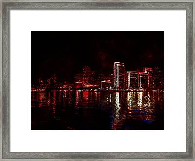 Hot City Night Framed Print