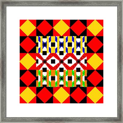 Hot Coals Abstract Framed Print