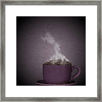 Framed Print featuring the photograph Hot Coffee by Gert Lavsen