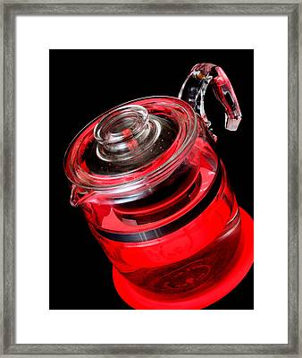Hot Coffee Maker Framed Print by Jim Hughes