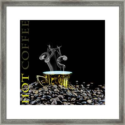 Hot Coffee  Framed Print by Tommytechno Sweden