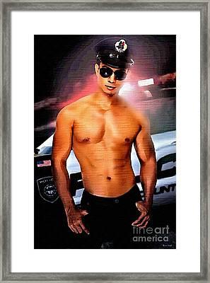 Hot Cop Framed Print