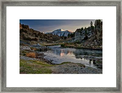 Hot Creek Framed Print