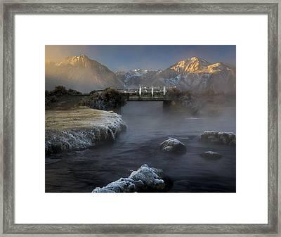 Hot Creek In Winter Framed Print