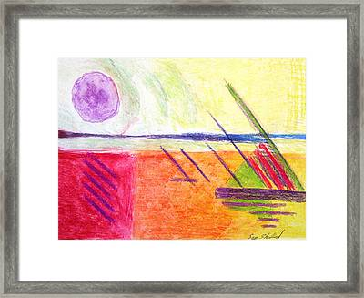 Hot Day At The Shore Framed Print