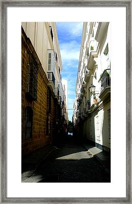 Hot Day In Cadiz Framed Print by Olga Breslav