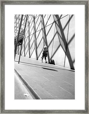 Hot Day Russell Street Framed Print by Lee Stickels