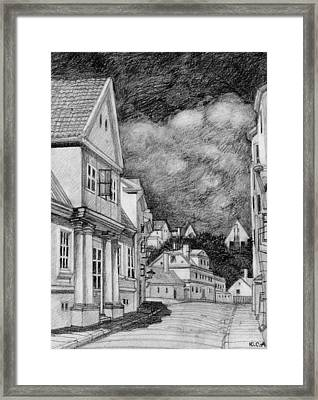Hot Day Framed Print