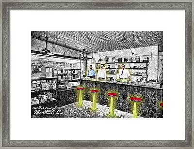 Hot Dog Lunch Framed Print by Barry Moore