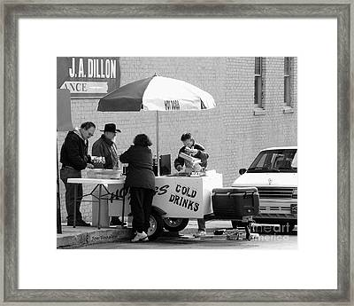 Hot Dog Man Framed Print by   Joe Beasley
