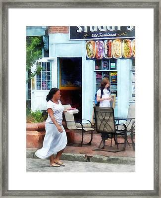 Hot Dog Shop Fells Point Framed Print