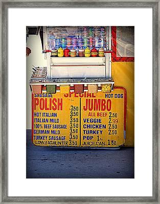 Hot Dog Stand Framed Print