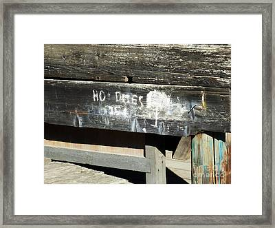 Hot Dogs 15 Cents Framed Print by Methune Hively