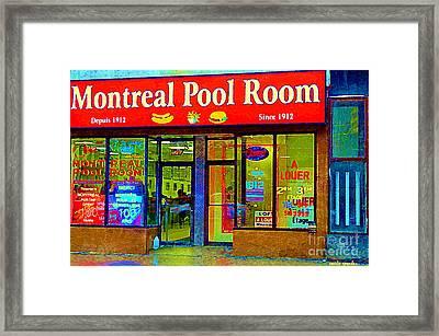 Hot Dogs Et Frites Montreal Pool Room Famous Hot Dog Shrine Urban Eateries Fast Food Scenes Cspandau Framed Print