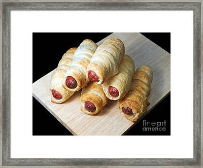 Hot Dogs Framed Print