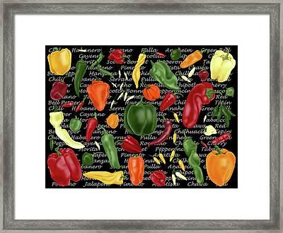 Hot For Chilis Framed Print