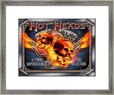 Hot Heads Framed Print by JQ Licensing