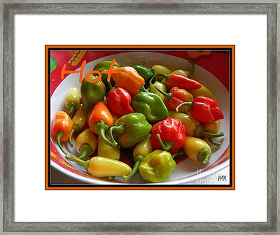 Framed Print featuring the photograph Hot Hot Peppers by Heidi Manly