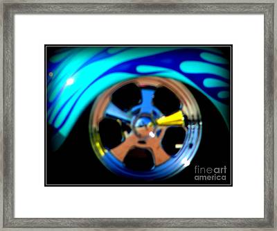 Framed Print featuring the photograph Hot Hot Wheels  by Bobbee Rickard