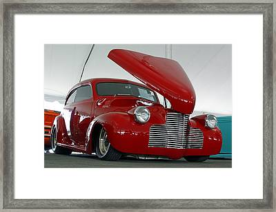 Framed Print featuring the photograph Hot In Red by Shoal Hollingsworth