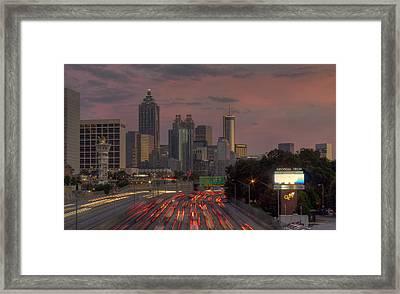 Hot 'lanta Nightfall Framed Print by Stephen Gray