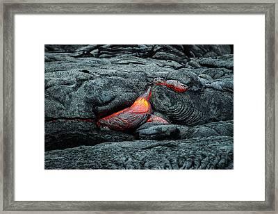 Hot Lava Framed Print by Jen Morrison