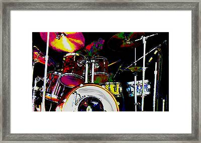 Hot Licks Drummer Framed Print by Kae Cheatham