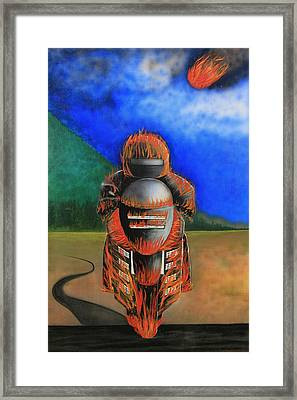 Hot Moto Framed Print by Tim Mullaney