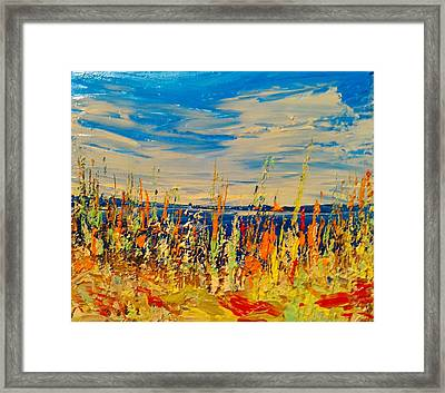 Hot Mush Fall Weeds Framed Print