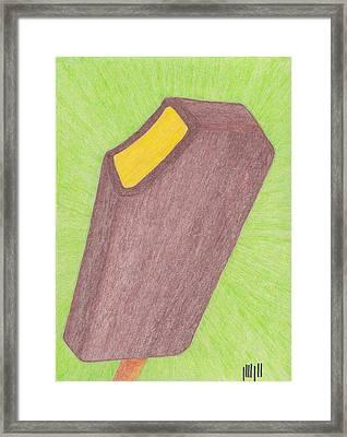 Hot Mustard Fudgsicle Framed Print