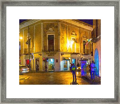 Hot Nights In The Yucatan Framed Print by Mark E Tisdale