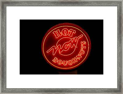 Hot Now Krispy Kreme Framed Print